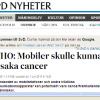Telia tvingar människor att använda cancerogen mobiltelefon